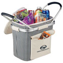 NAUTICAL STRIPED INSULATED PICNIC COOLER